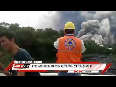 Volcán Fuego: Otro ángulo del deslizamiento de Lava.