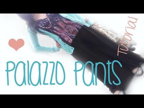 ♥ How to make a sharrara or palazzo pants /  ☁Super easy !!