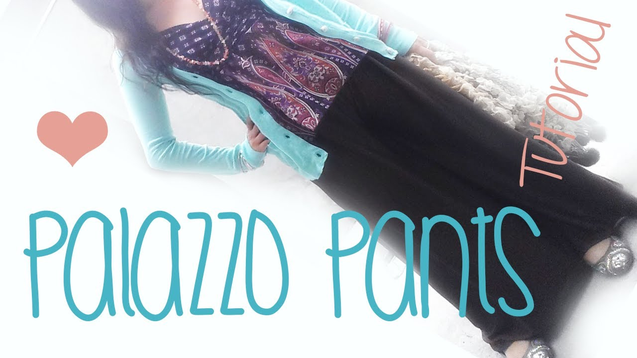How To Make A Sharrara Or Palazzo Pants Super Easy Youtube
