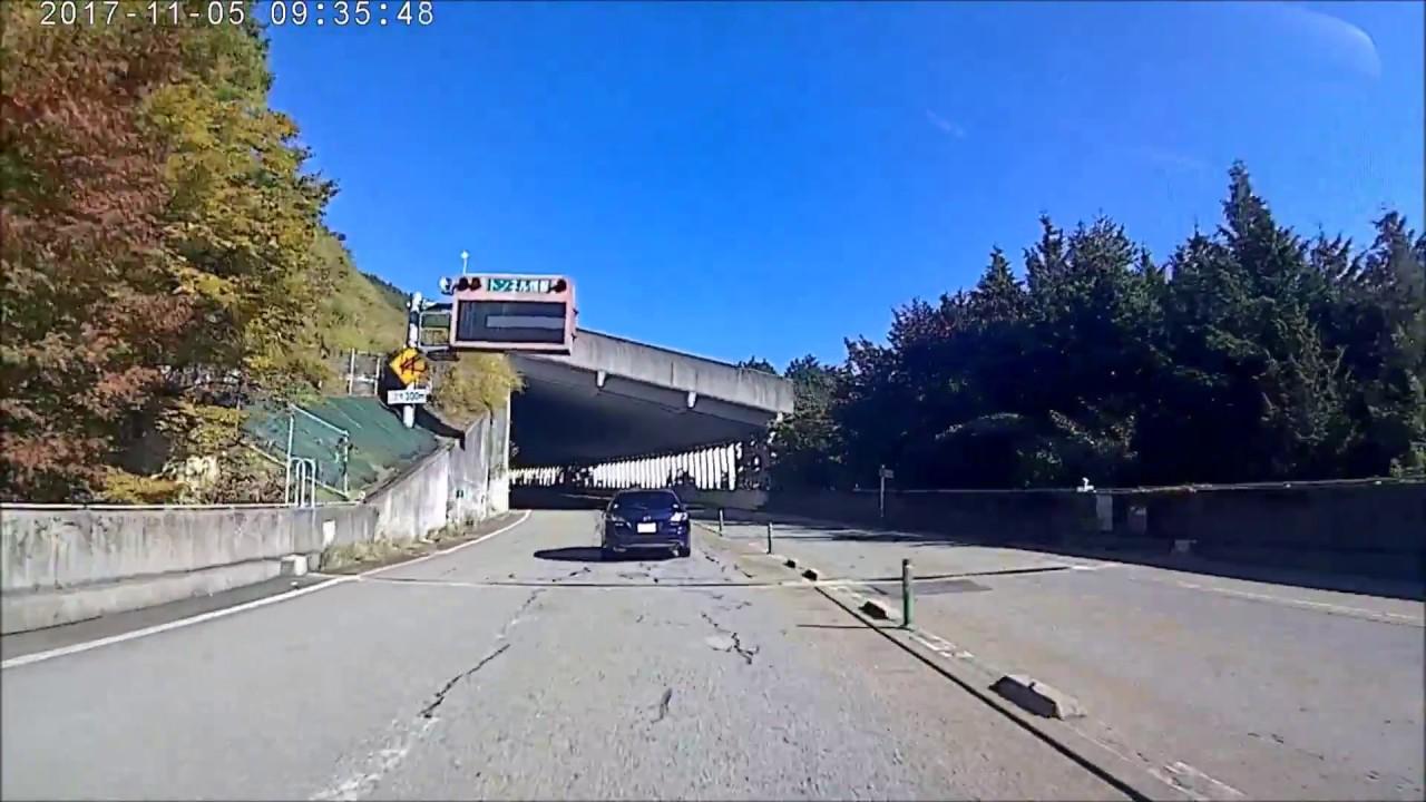 白鳥インターから油坂峠 道路 無料区間までの 4Kアクションカメラ映像 ...