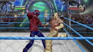 WWE All Stars (Spiderman Vs Rey Mysterio Cage Match) HD