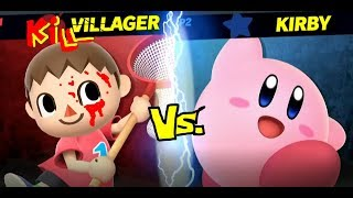 Villager vs. Kirby | Smash Bros. Ultimate Tournament Gameplay