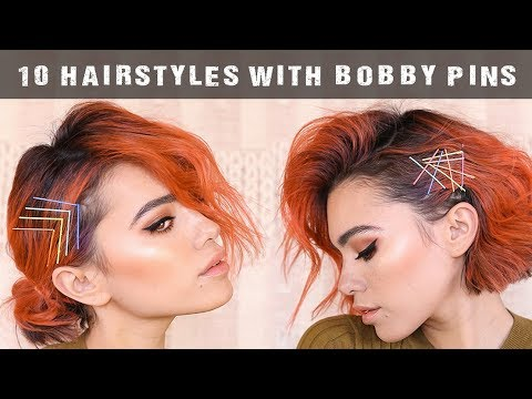 10 Easy Hairstyles Using Bobby Pins Tutorial Youtube