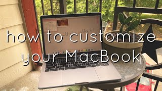 aesthetic macbook customization + tips&tricks + playlist covers
