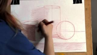 натюрморт(В новом видео мы рассмотрим как рисовать натюрморт из 3 простейших геометрических фигур. Подпишитесь на..., 2015-06-06T08:35:10.000Z)