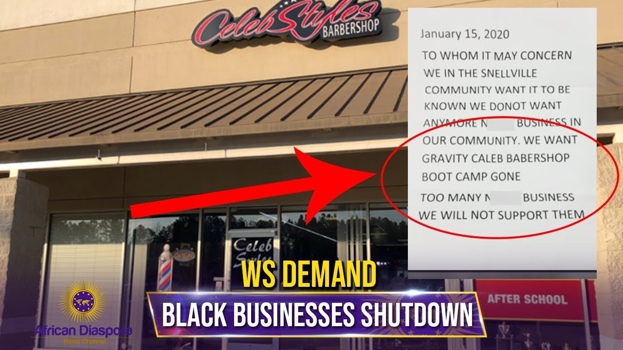 WS Send Letters To Black Owned Businesses Demanding They Shutdown