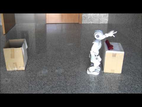 Nao robot solving a pick up task using Automated Planning and Computed Vision (Experiment 2B)