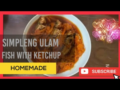 Fish With Ketchup Recipe/ Simple Recipe At Home
