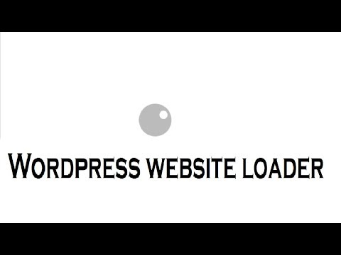 How to Create Wordpress Website Loader - CSS Animation Tutorial thumbnail