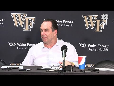 @NDmbb Mike Brey Post-Game Press Conference at Wake Forest (2018)
