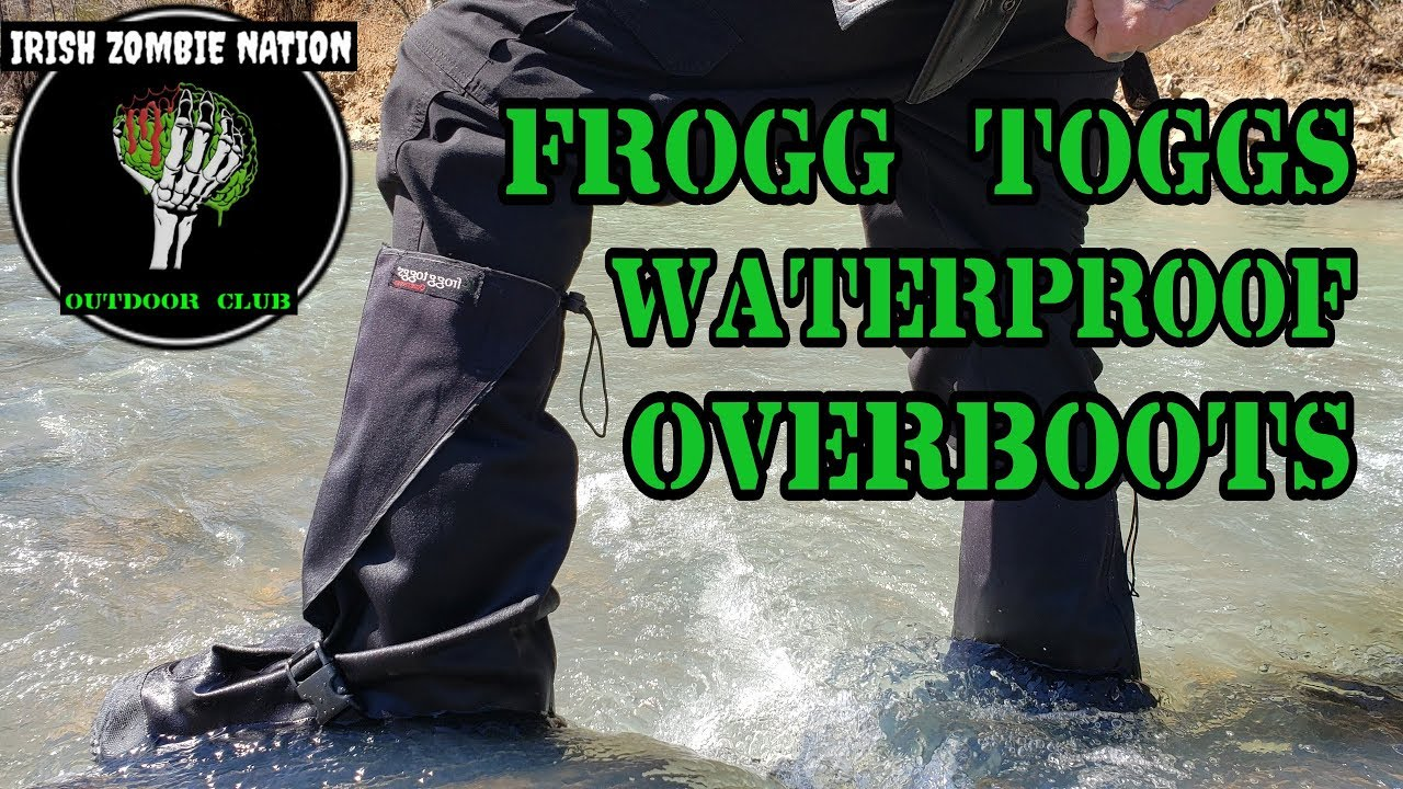 f76bd6e639d2d Frogg Toggs Waterproof Overboots (Gaiters) for Camping Hiking Motorcycle  Riding - Review