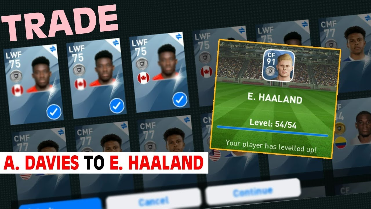 E Haaland Trade Train Max Stats Review Pes 2020 Mobile Youtube