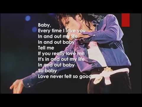 Michael Jackson Love Never Felt So Good Lyrics
