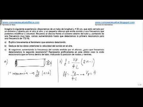 Fisica fenomenos ondulatorios ondas estacionarias velocidad del sonido en un tubo