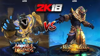 Mobile Legends VS Heroes Arena 2k18