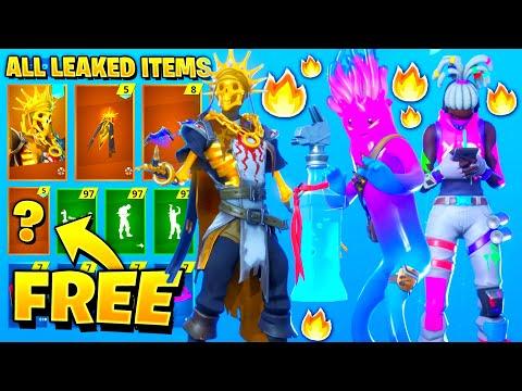 *NEW* Leaked Fortnite Skins & Emotes..!! *FREE REWARDS* (Jellie Skin, Purple Rippley)