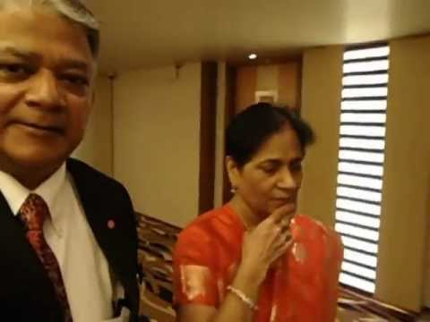 Aruna & Hari Sharma with Naren Shah in Radisson Blu Hotel Ahmedabad Nov 25th, 2012.mov