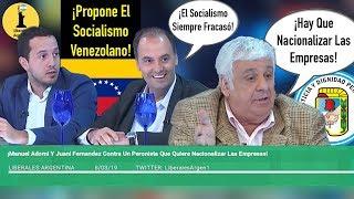 ¡Manuel Adorni Y Juani Fernandez Contra Un Peronista Que Quiere Nacionalizar Las Empresas!
