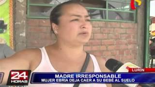 Baixar Lurín: mujer ebria deja caer a su bebé al suelo