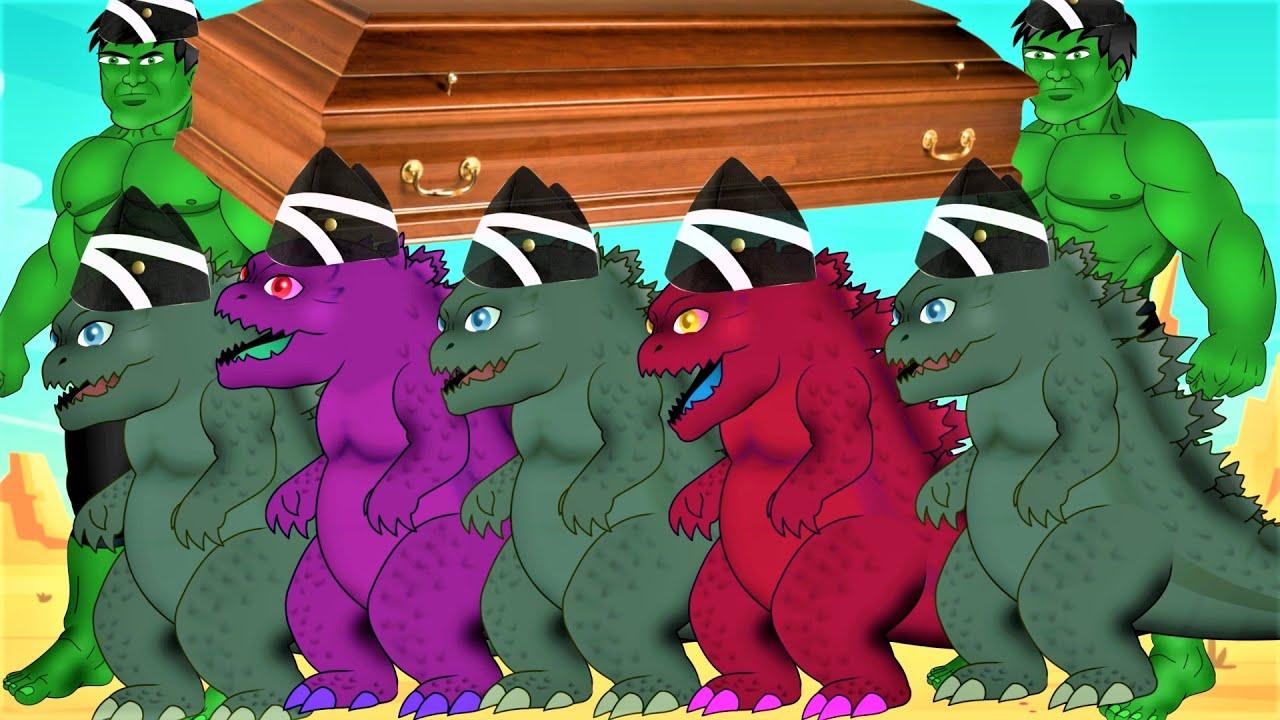 Download Godzilla & Hull & Seren Head Vs Corona Virus  - Coffin Dance Song Meme Cover
