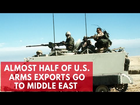 Almost half of U.S. arms exports being sent to the Middle East