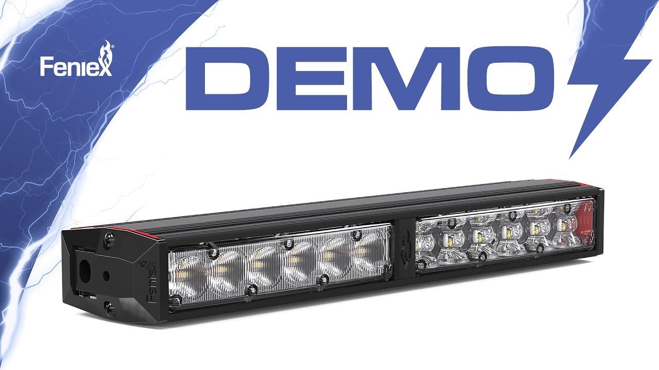 Feniex Fusion 200 Light Stick Demo Youtube