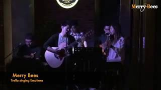 Merry Bees - Trella singing Emotions (Singapore Live Band/Wedding Singers)