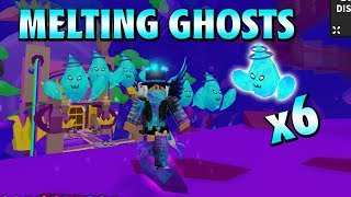 MELTING GHOSTS WITH 6 SPLASH PETS + UNBOXING [Ghost Simulator | Roblox]
