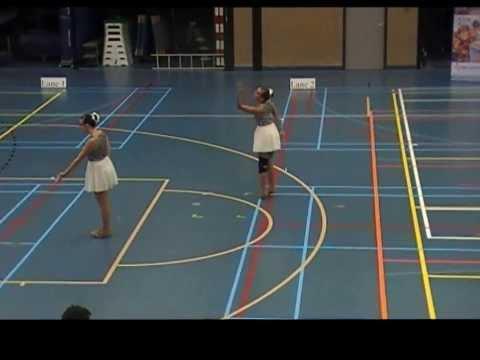 Twirlconcours Hardinxveld Duo Amy en Melissa Showkorps Wilhelmina Sleeuwijk 21092013