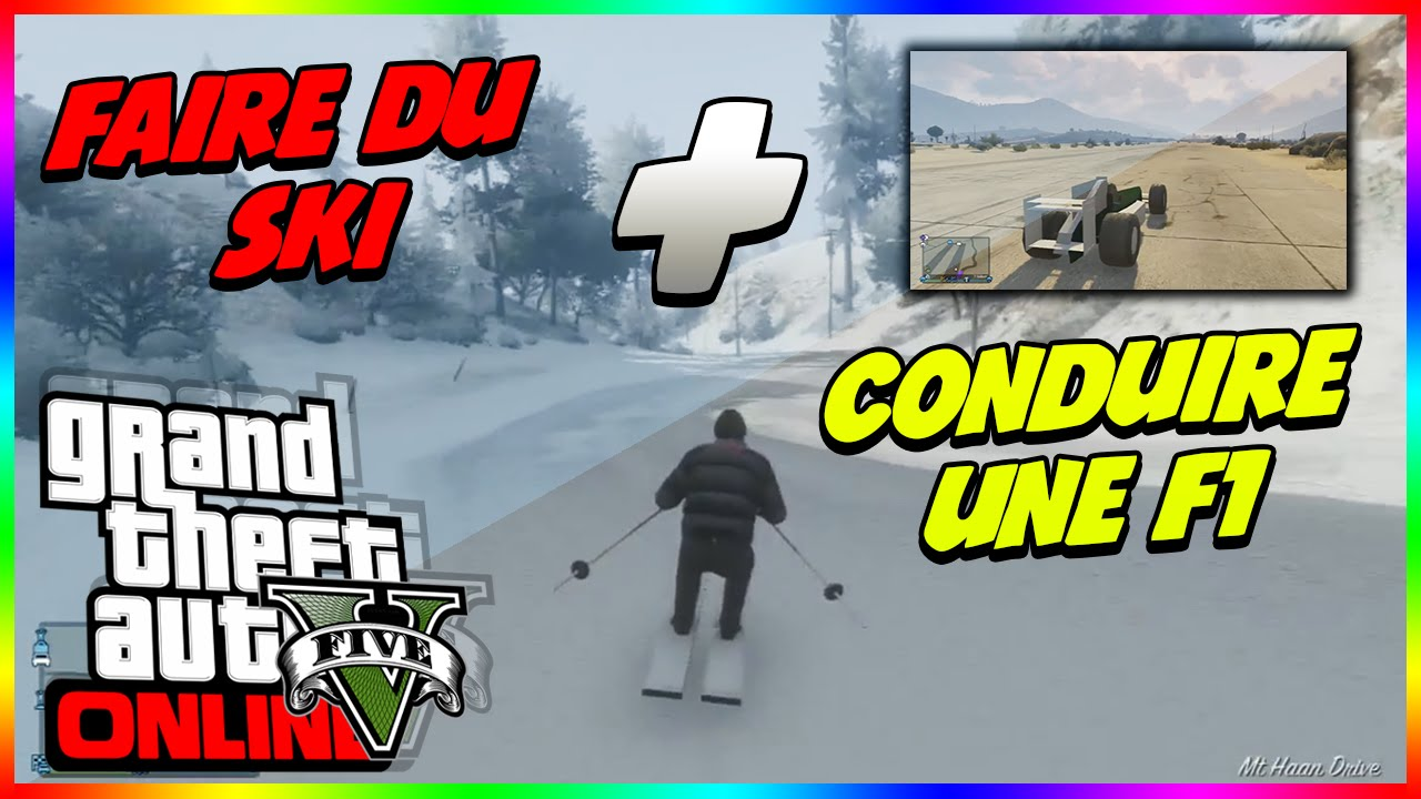epic faire du ski et conduire une formule 1 sur gta 5 online youtube. Black Bedroom Furniture Sets. Home Design Ideas