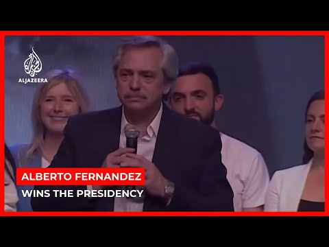 Argentina's opposition leader Alberto Fernandez wins the presidency