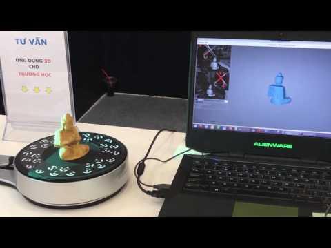 Máy scan 3D Einscan SP tại Vietnam Industrial & Manufacturing Fair 2017