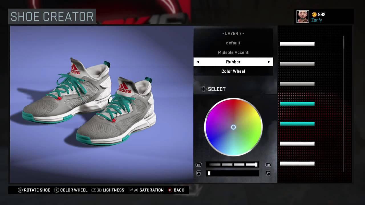 on sale e80d3 cc86c NBA 2K16 Shoe Creator - Adidas D Lillard 2