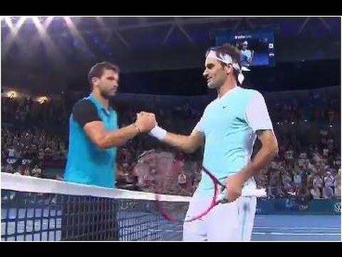 Grigor Dimitrov vs. Roger Federer 4-6, 7-6(4), 4-6 Brisbane International (QF) 08.01.2016.