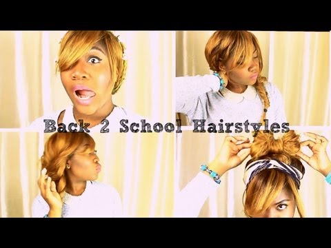 quick and easy hair styles for school back to school series 4 and easy hairstyles 5303 | hqdefault