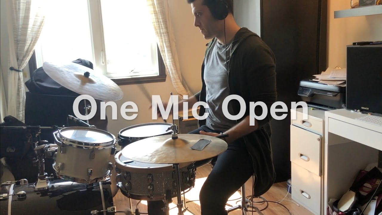 How to record drums with 1 microphone in a small room (Beyerdynamic M260)