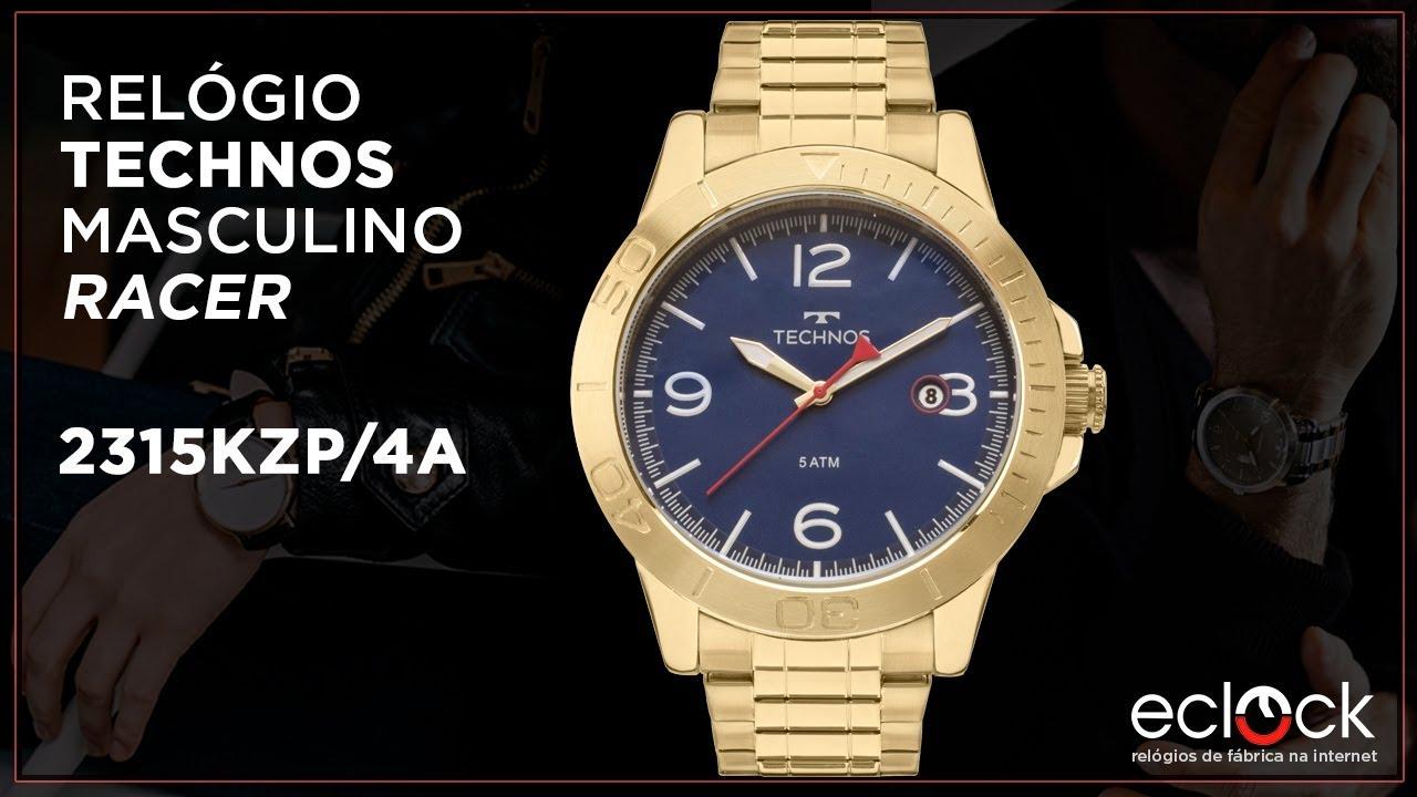 4e7dec505ff32 Relógio Technos Masculino Racer 2315KZP 4A - Eclock - YouTube