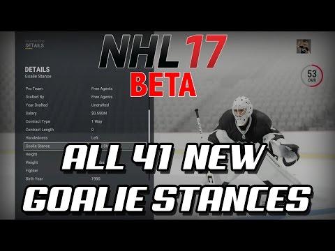 NHL 17 Beta – ALL 41 NEW GOALIE STANCES