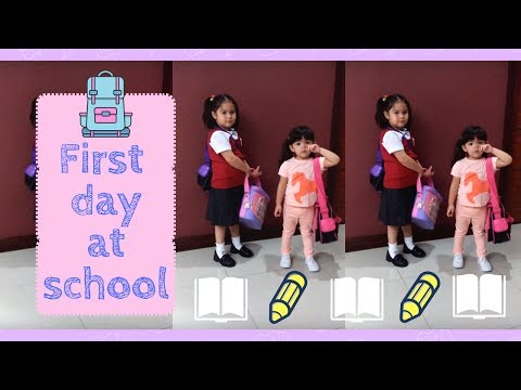 Kendra and Scarlett's first day at school