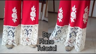 Perfect Plazo pant cutting and stitching  Circular Plazo from umbrella