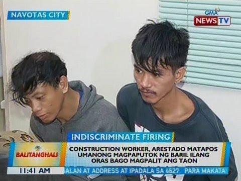 BT: Construction worker, arestado matapos umanong magpaputok ng baril sa Navotas City