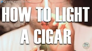 How To Light A Cigar Using A Torch Lighter, Soft Flame, Matches or Cedar Spills