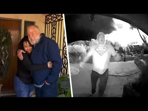 Kristina Kage - Woman Cries Thanking Hero Neighbor for Saving Her Family From Fire