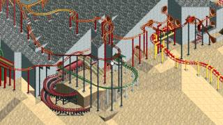 Rollercoaster Tycoon Loopy Landscapes #17 (Volcania: Racing the ridge)