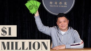 Ivan Leow Wins $1 MILLION in the HK $500K Triton Hold 'Em Event