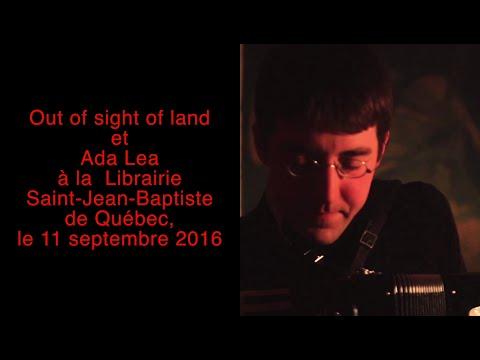 Out of sight of land, Ada Lea à la  Librairie Saint-Jean-Baptiste de Québec, le 11 septembre 2016
