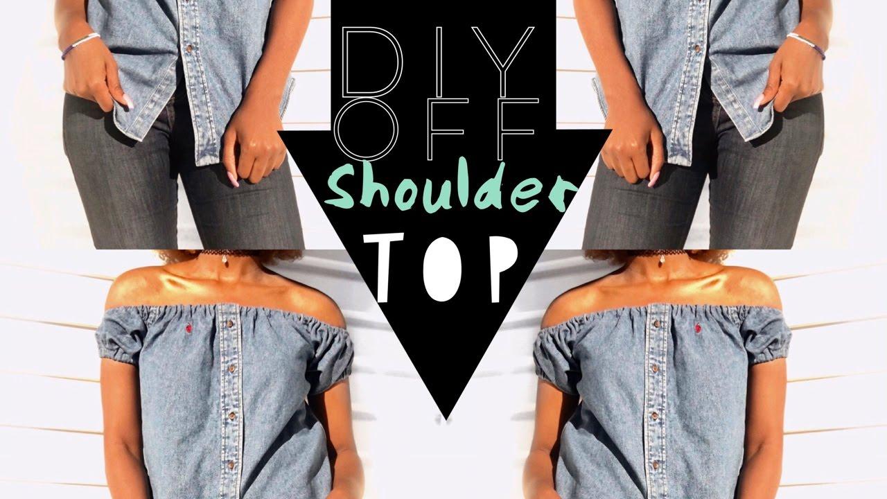 66fa9f493c3715 Shimmer Shoulders | DIY Off-Shoulder top - YouTube