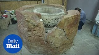 Byzantine font is discovered at Nativity Church in Palestine