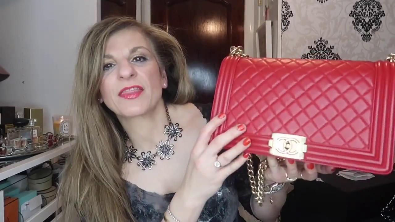 Chanel Boy Bag Review  Wear Tear   New Medium large - YouTube 2a7fdd9a834cb