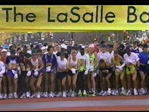 FRANK SHORTER @ 1999 CHICAGO MARATHON Starting Line
